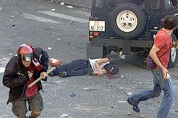 10 años de la muerte de Carlo Giuliani Genova02