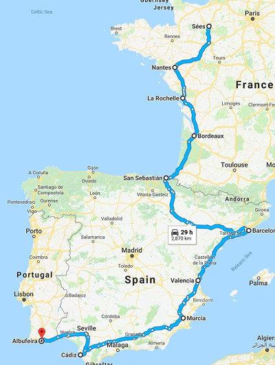 VOYAGE - Futur nomade à deux roues Map