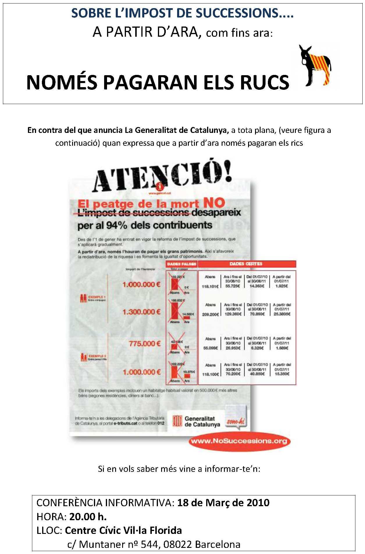 18 MARÇ - CONFERÈNCIA ARIS - SARRIÀ/ST. GERVASI - 20.00 h RucsL