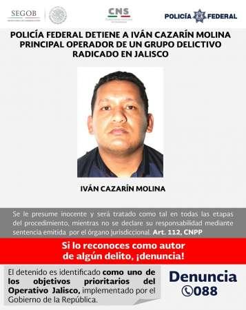 Detienen a Iván Cazarín, segundo del cártel Jalisco Nueva Generación 0-grande