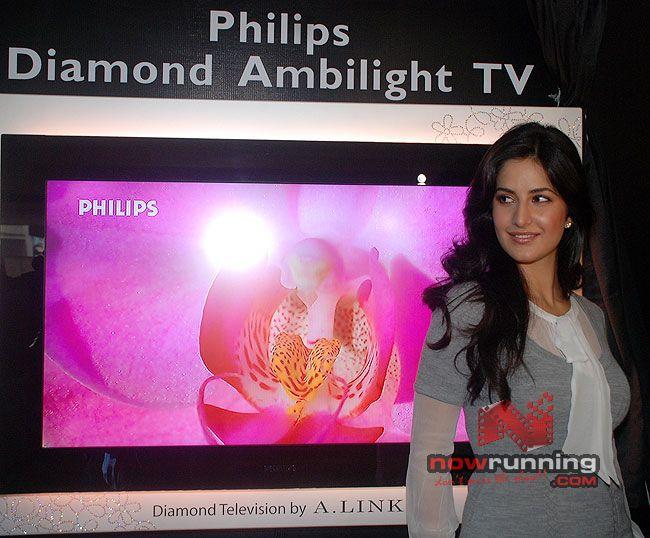 Katrina Unveils Diamond-Encrusted Flat TV Katrina%209