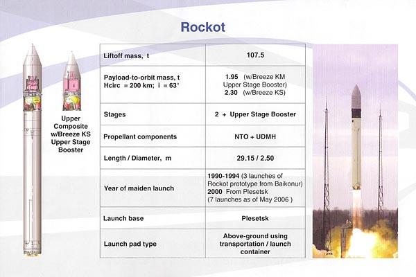 Lancement Rokot • Gonets M - 28.07.2012 Rockot
