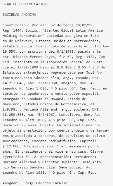 NOTICIAS DEL ÁMBITO ESPACIAL ARGENTINO. - Página 3 Startec.communication