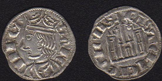 Cornado de Sancho IV (Coruña, 1284-1295). SanchoIVCorunaCornadoVellonSC074gr