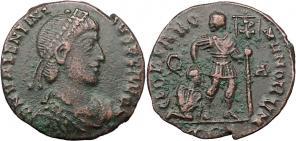 Fibule cruciforme sur un buste de Valentinien Ier 19778
