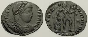 Fibule cruciforme sur un buste de Valentinien Ier 20887