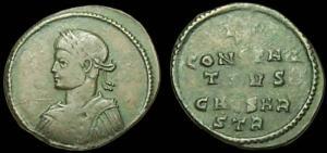 les monnaies anépigraphes pour les vicennales de Constantin Ier à Trèves 25370
