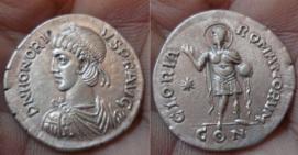 Comparaison de coins du Miliarense de Théodose II   27044