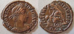 nummus de Constance II pour Rome 41094