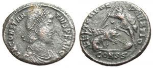 nummus de Constance II pour Rome 43146