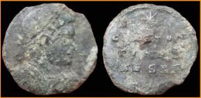 les monnaies anépigraphes pour les vicennales de Constantin Ier à Trèves 8998