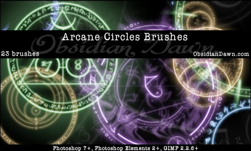 Brushes Pack Fantasia Arcane-circles-brushes