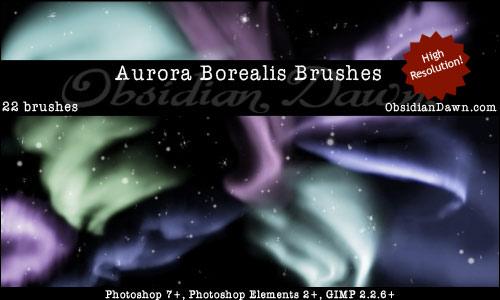 Brushes Pack Fantasia Aurora-borealis-brushes