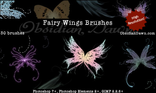 Brushes Pack Fantasia Fairy-wings-brushes