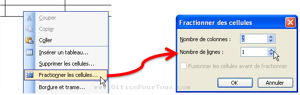 مقياس الاعلام الالي 30 ساعة  Fractionner-cellules-tableau-word-2003