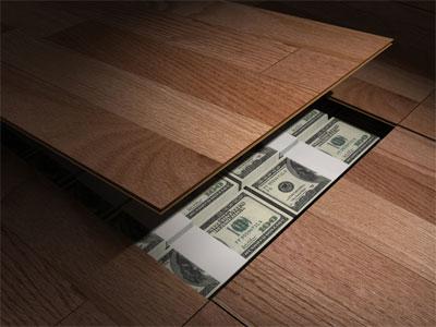 من اطرف الاشياء فى العالم طرق اخفاء النقود والاشياء بالصور Secret_money