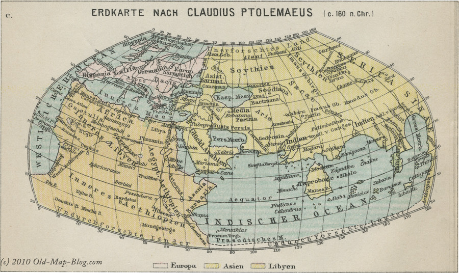 Flat Earth Maps  - Page 2 World_Map_Ptolemy_160AC