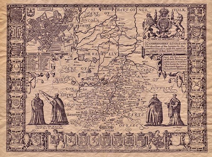 Stare geografske mape i karte - Page 2 Antique-Map-Cambridgeshire