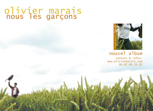 olivier marais, nouvel album Albumcarte