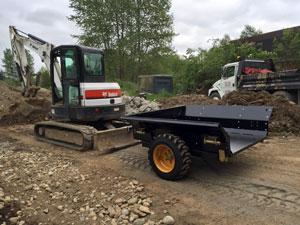 escavatore gommato Excavator-dump-trailer-0032