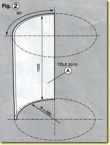 Eolienne à axe vertical, plans de construction Fig2