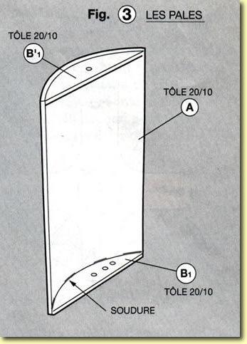Eolienne à axe vertical, plans de construction Fig3
