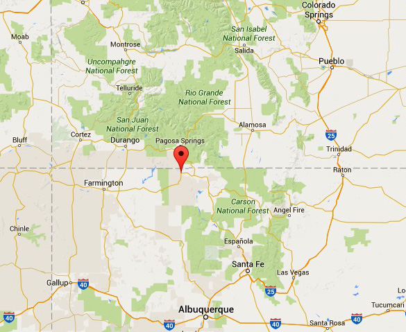 Amazing first hand UFO testimonials from Dulce, New Mexico families Dulce-Map