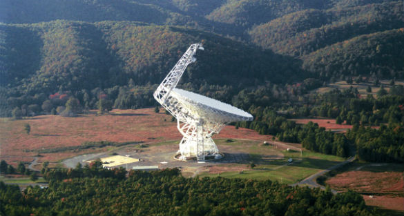 New mysterious signals detected by search for extraterrestrial intelligence (SETI) project Green_Bank_ftr
