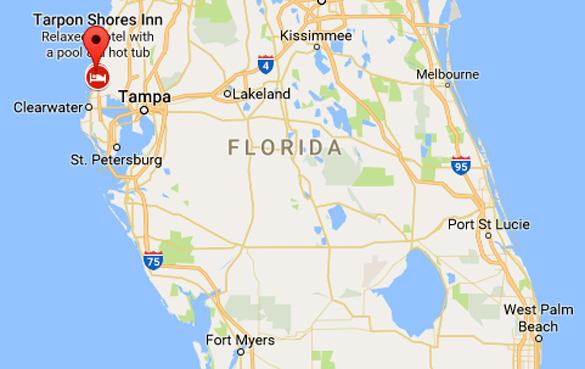 UFO News ~  Florida witness reports rectangular UFO near Tampa Bay plus MORE Tarpon-Spring-Map