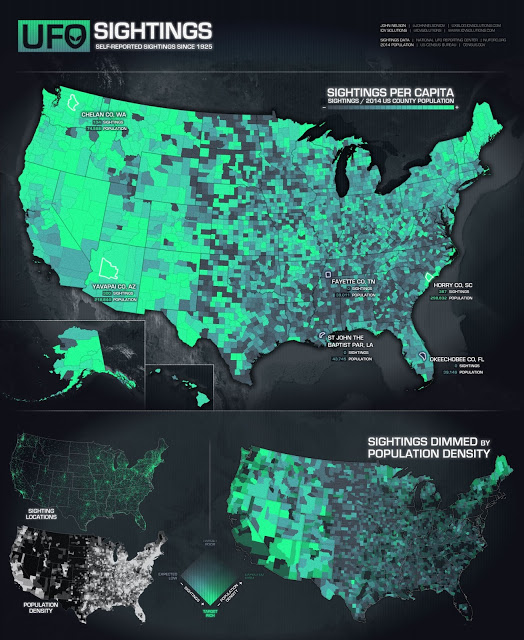 Another new UFO map produced by data specialists UFOsMap