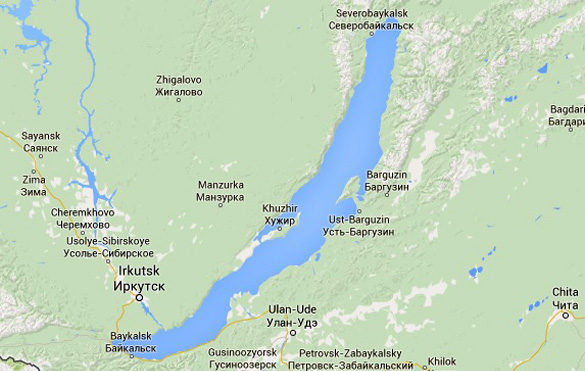 Several UFOs reported over eastern Siberia Ulan-Ude-Map