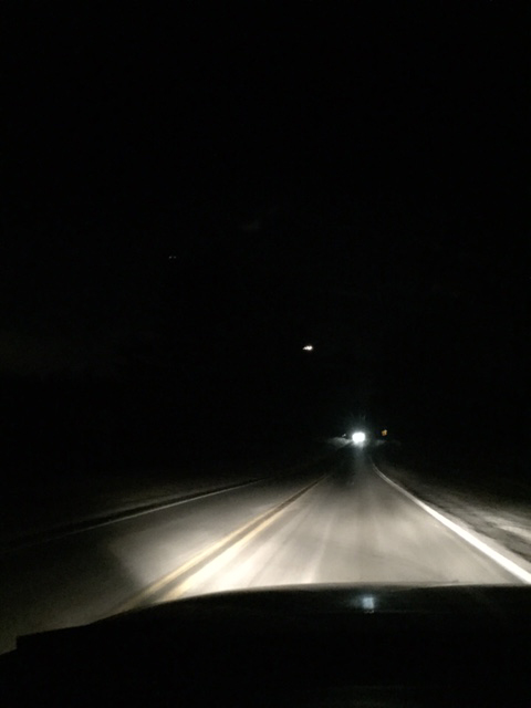 Pennsylvania witness photographs low flying triangle UFO Image-1-67