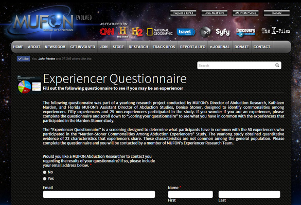MUFON Experiencer Survey expands alien abduction research Image-373