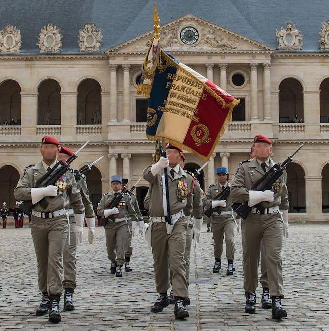Le Centre de formation initiale des militaires du rang de la 11e Brigade Parachutiste prend le nom du 6e RPIMa . 6erpima-20190421