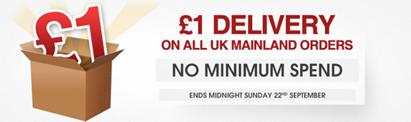 £1 Shipping, No Minimum Spend - Limited Time Only 1shipaug