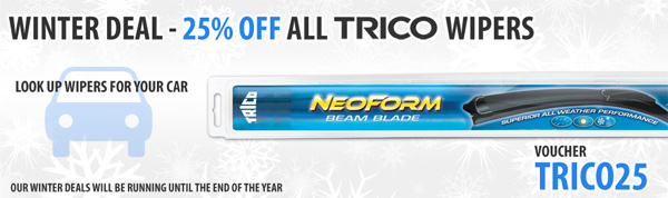 20% Off Gulf, NGK, Denso & K&N | 25% Off Trico Dectrico