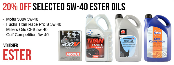 20% Off 5w-40 Ester Race Oils | Plus other New offers Ester-offer