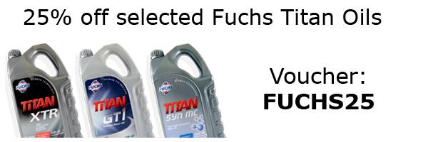 25% Off Selected Fuchs Titan Engine Oils Fuchs25