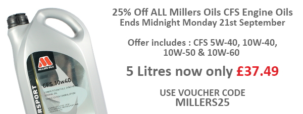5 ltrs Millers CFS £37.49 | 20% off Pro Boost Millers25