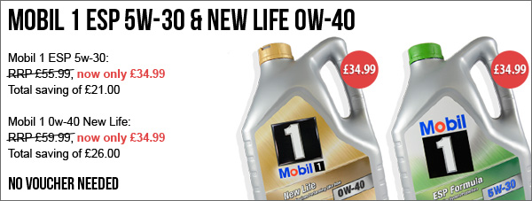 20% Off 5w-40 Ester Race Oils | Plus other New offers Mobil1-offer