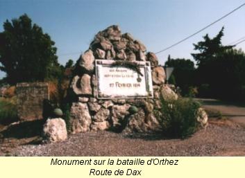 Bataille d'ORTHEZ (Pyrénées-Atlantiques), 27 février... Monument