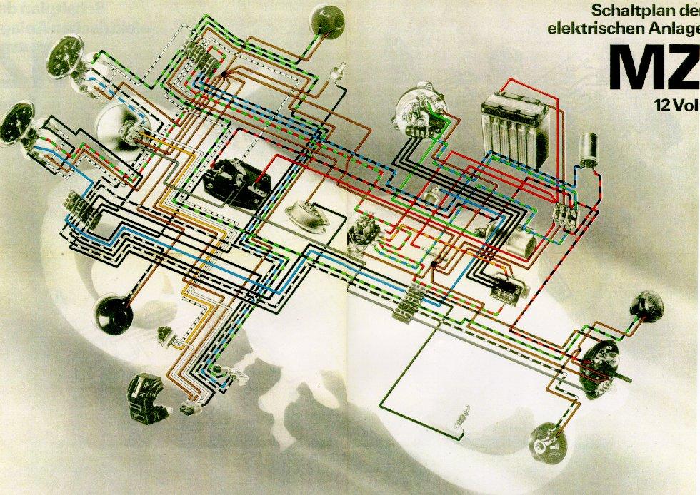 ETZ 125 - 150 -151 251- 301 : schémas électriques 12vanlage