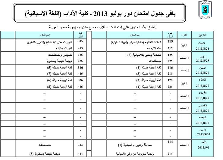 جداول امتحانات تعليم مفتوح جامعة القاهرة دور يوليو آداب أسبانى 2012  Exam%20Spain