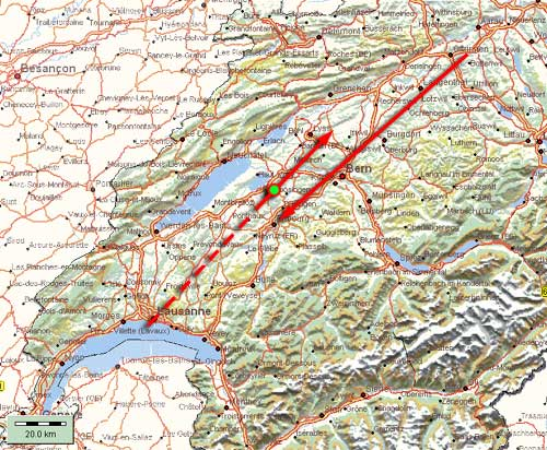 05 novembre - Le 5 novembre 1990 en Suisse romande Avion_map3