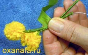 Креатив из помпонов 1299012142_mimosa-18