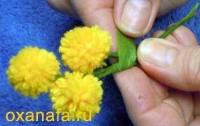 Креатив из помпонов 1299012156_mimosa-19