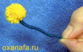 Креатив из помпонов 1299012182_mimosa-12