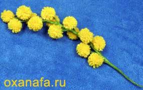 Креатив из помпонов 1299012218_mimosa-20