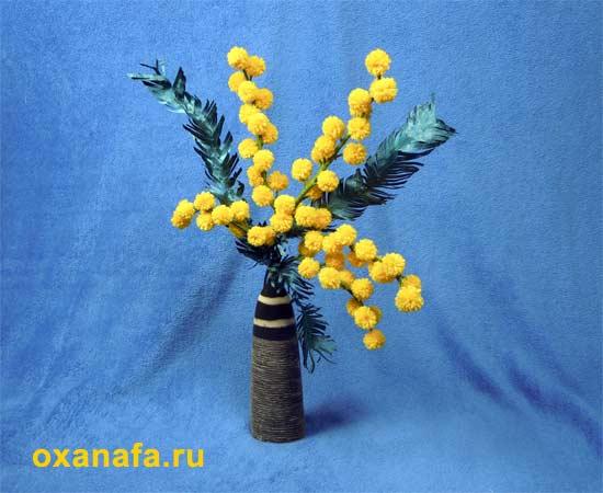 Креатив из помпонов 1299012252_mimosa