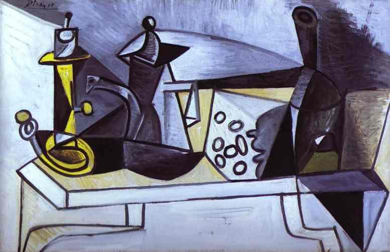 Naturaleza muerta con queso, Pablo Picasso 196